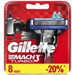 ЖИЛЛЕТ МАЧ 3 ТУРБО КАССЕТЫ СМЕН. Д/БРИТЬЯ №8  [GILLETTE MACH 3 TURBO]